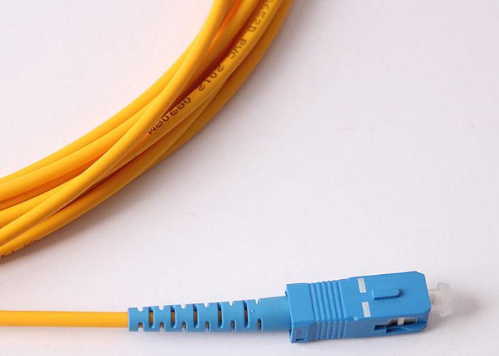 G657A2 3mm Optical Fiber Jumper / Sc To Sc Single Mode Fiber Patch Cable